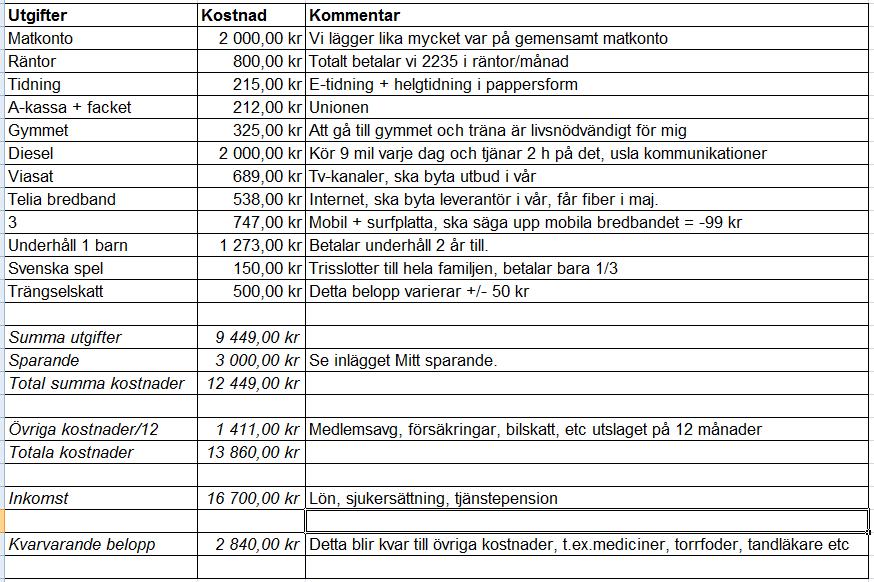 Kostnader 201601